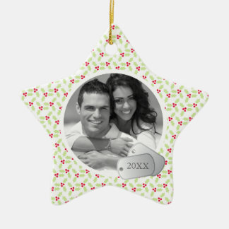 Holiday Pattern and Dog Tags Ornaments
