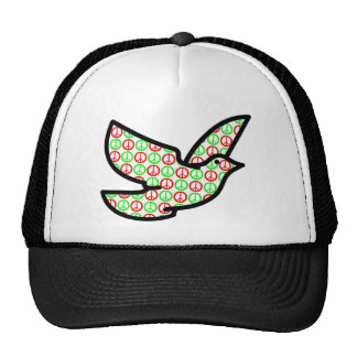 Holiday Peace Signs Dove Cap