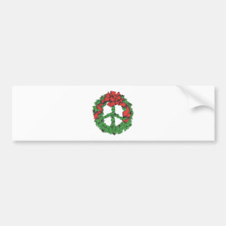 Holiday Peace Wreath Bumper Sticker