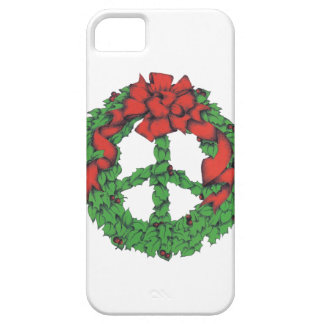 Holiday Peace Wreath iPhone 5 Cases