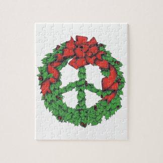 Holiday Peace Wreath Jigsaw Puzzle