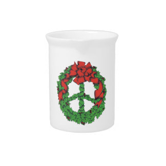 Holiday Peace Wreath Pitcher
