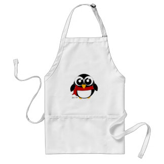 Holiday Penguin Adult Apron