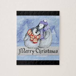 Holiday Penquins Jigsaw Puzzle