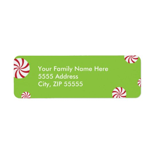 Holiday Peppermints Return Address Label