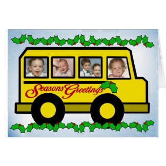 Holiday Photo Bus Card