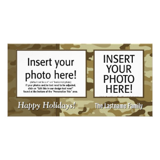 Holiday Photo Card - Camouflage