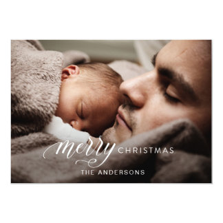 Holiday photo card, christmas greetings card