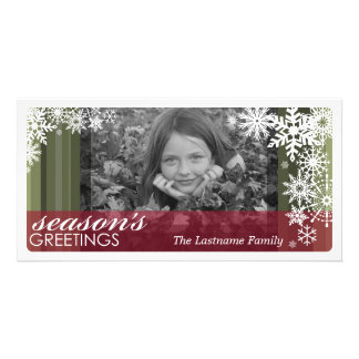 Holiday Photo Card: Let It Snow! Customised Photo Card