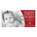 Holiday Photo Card: Let It Snow! Personalised Photo Card