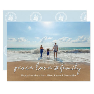 Holiday Photo Card   Peace, Love and Family