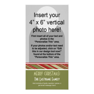 Holiday Photo Card: Retro Stripes Card