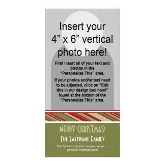 Holiday Photo Card: Retro Stripes