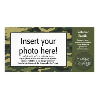 Holiday Photo Card - Tan Camo