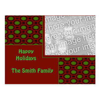 Holiday Photo Frame Template Postcard