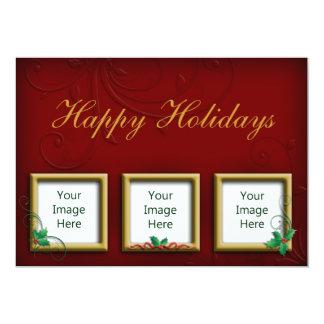 Holiday Photo Greeting Card 13 Cm X 18 Cm Invitation Card