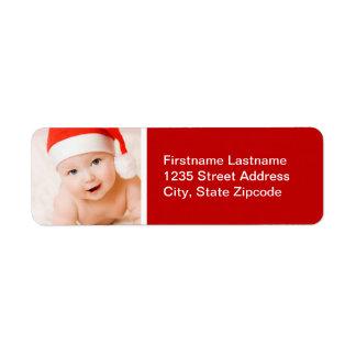 Holiday Photo Return Address Label