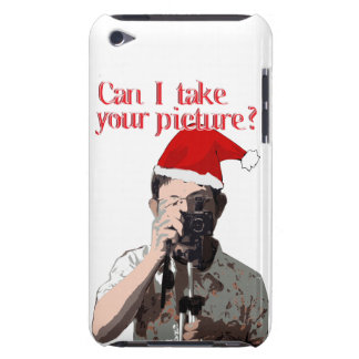 Holiday Photographer - Cheesy Pick-up Line Barely There iPod Case