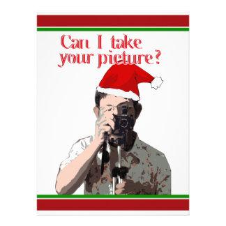 Holiday Photographer - Cheesy Pick-up Line Custom Invite