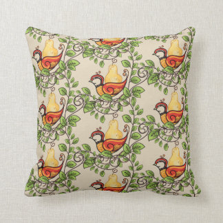 Holiday Pillow-Partridge Cushion