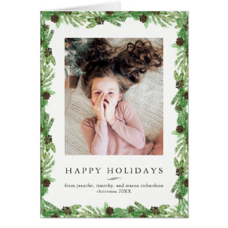 Holiday Pine | Christmas Photo Card