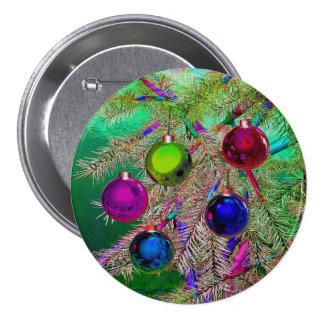 Holiday Pine Decor 7.5 Cm Round Badge