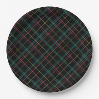 Holiday Plaid Paper Plate
