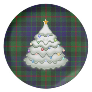 Holiday Plaid Plate