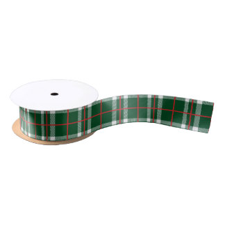 Holiday Plaid Ribbon Green Satin Ribbon