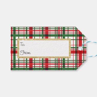 Holiday Plaid Stripe Gift Tag