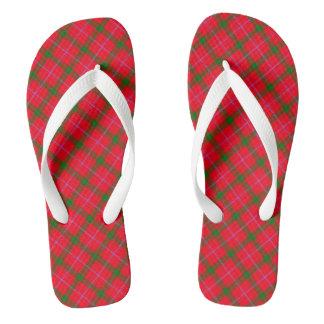 Holiday Plaid / Tartan Thongs