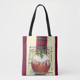 Holiday Plum Pudding tote