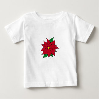 HOLIDAY POINSETTIA / FLOWER, CHRISTMAS BABY T-Shirt