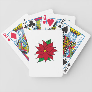 HOLIDAY POINSETTIA / FLOWER, CHRISTMAS BICYCLE PLAYING CARDS