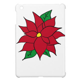 HOLIDAY POINSETTIA / FLOWER, CHRISTMAS CASE FOR THE iPad MINI