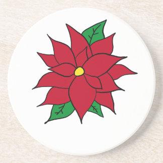 HOLIDAY POINSETTIA / FLOWER, CHRISTMAS COASTER