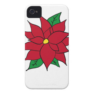 HOLIDAY POINSETTIA / FLOWER, CHRISTMAS iPhone 4 Case-Mate CASES