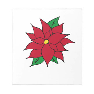 HOLIDAY POINSETTIA / FLOWER, CHRISTMAS NOTEPAD