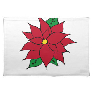 HOLIDAY POINSETTIA / FLOWER, CHRISTMAS PLACEMAT
