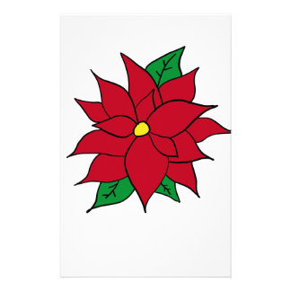 HOLIDAY POINSETTIA / FLOWER, CHRISTMAS STATIONERY
