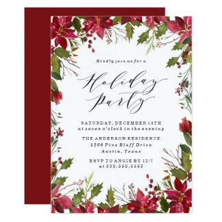 Holiday Poinsettia | Holiday Party Invitation