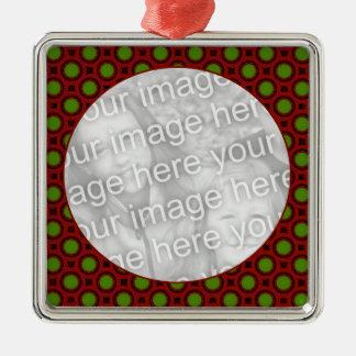 holiday polka dots metal ornament