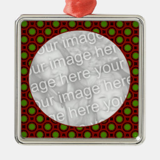 holiday polka dots Silver-Colored square decoration