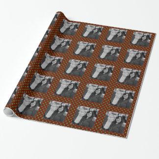 Holiday polka dots square photo frame