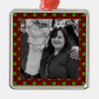 Holiday polka dots square photo frame Silver-Colored square decoration