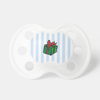 Holiday Present Pacifier Blue