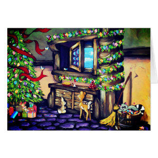 Holiday Princess Cottage Card