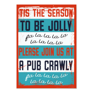 Holiday Pub Crawl / Beer Crawl Card