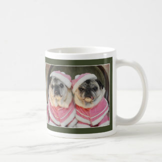 Holiday Pugs in Pink, Pug Mug by Pugs and Kisses
