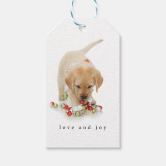 Holiday Puppy Playtime Gift Tags